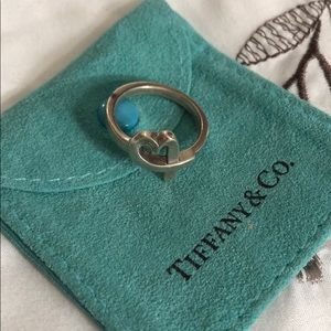 Tiffany silver heart ring